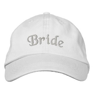 Bride Embroidered Cute Wedding Hat embroideredhat