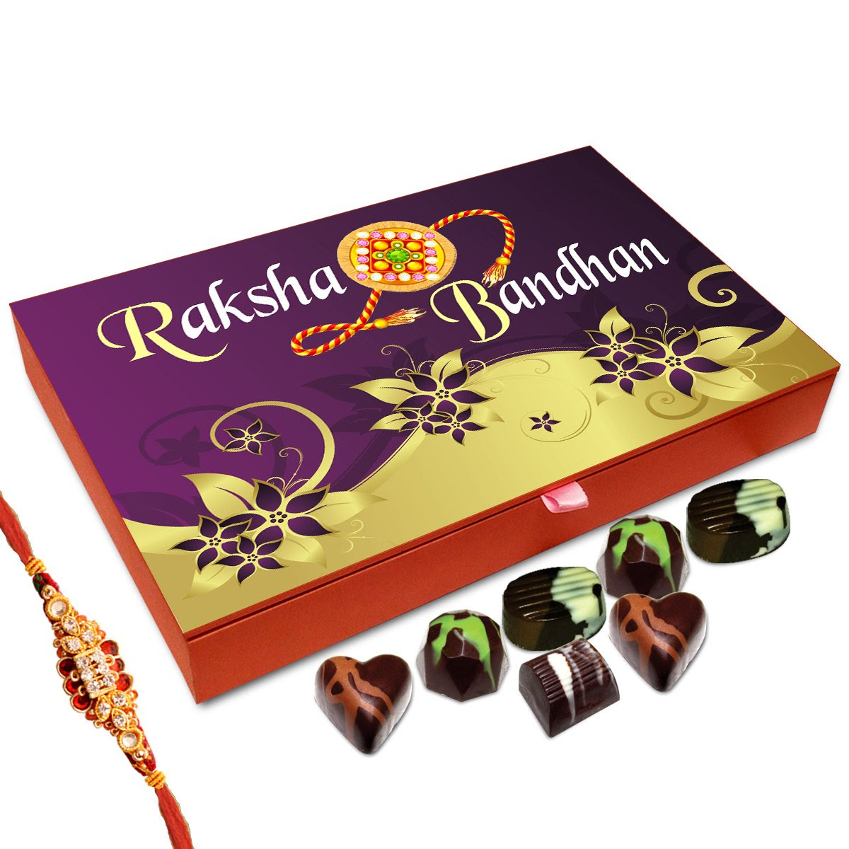 Best Price Of Chocolate Box For Brother - 12pc + Free Rakhi