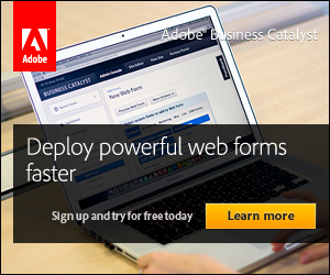 Build and deploy Web Forms faster. Adobe Business Catalyst.