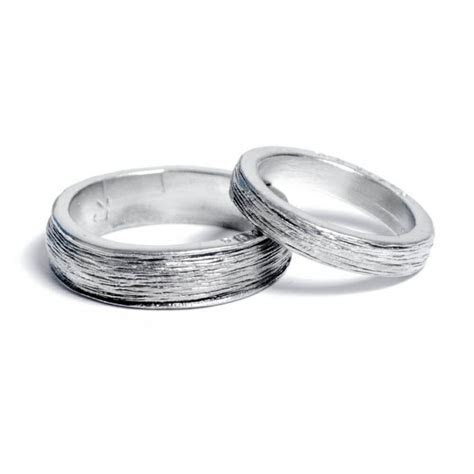 Him & Her Tin Rings for 10th Anniversary