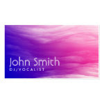 Vivid Colorful Clouds DJ Music Business Card