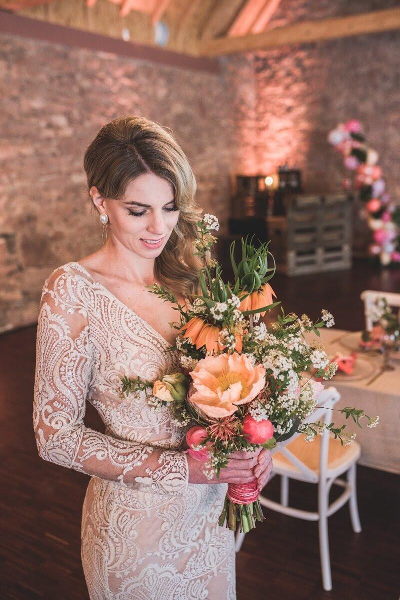 sommerparty-hochzeit: tropical wedding in koralle
