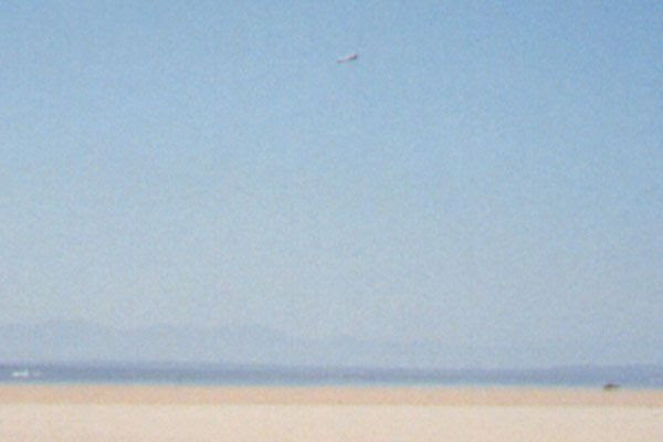 A photo I took of space shuttle Endeavour landing at Edwards Air Force Base in California, on May 16, 1992.