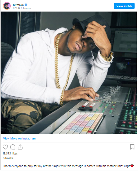 R&B singer, Jeremih on ventilator in ICU after contracting coronavirus