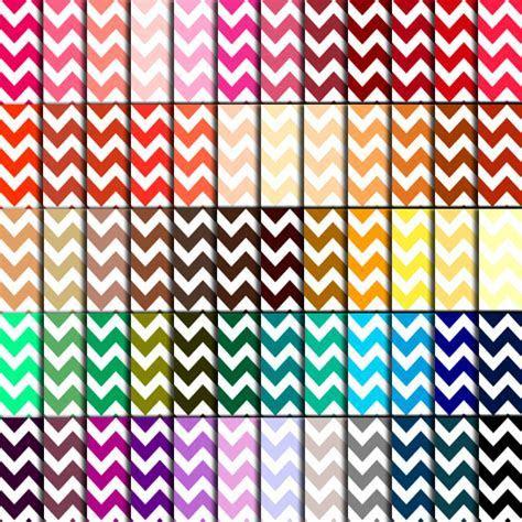 Chevron Scrapbook Paper (60 Colors)   Chevron Digital