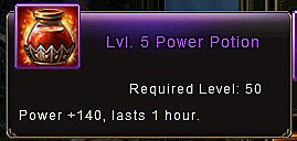 Power Potion vs Fresh Milk Tea - power potion item