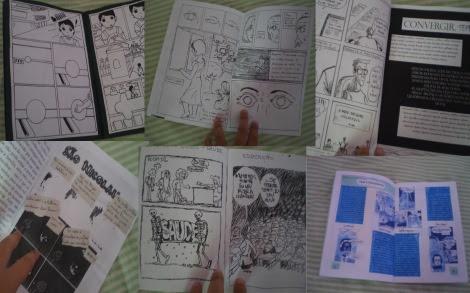 Exemplo do miolo dos quadrinhos produzidos pela turma da Oficina de Quadrinhos - UFAL