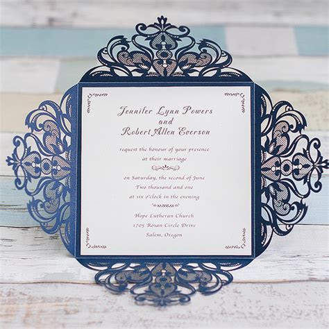 Blue Wedding Invitations Cheap At Elegant Wedding Invites