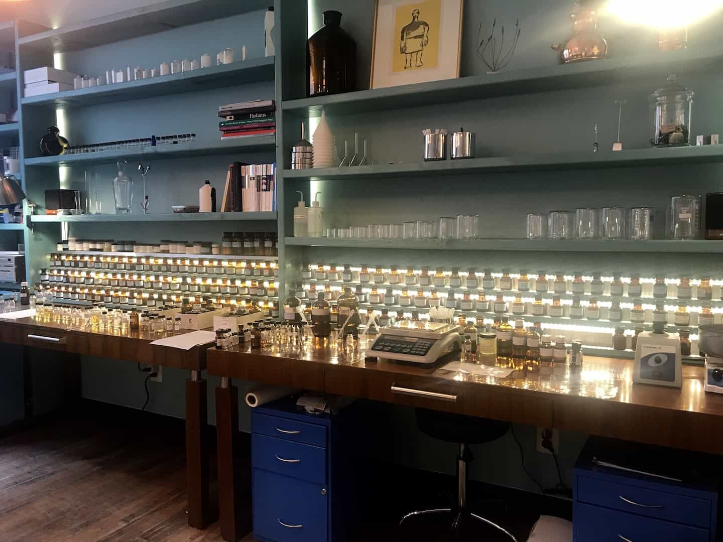 The Society of Scent in New York reminds ,e of my father's old pharmacy in Glasgow