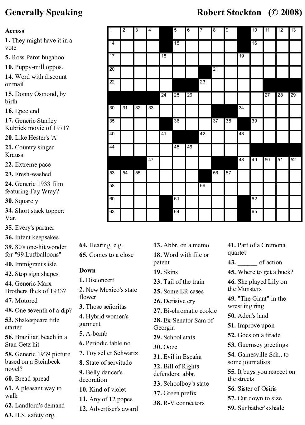 4 Best Images of Very Easy Crossword Puzzles Printable - Free ...