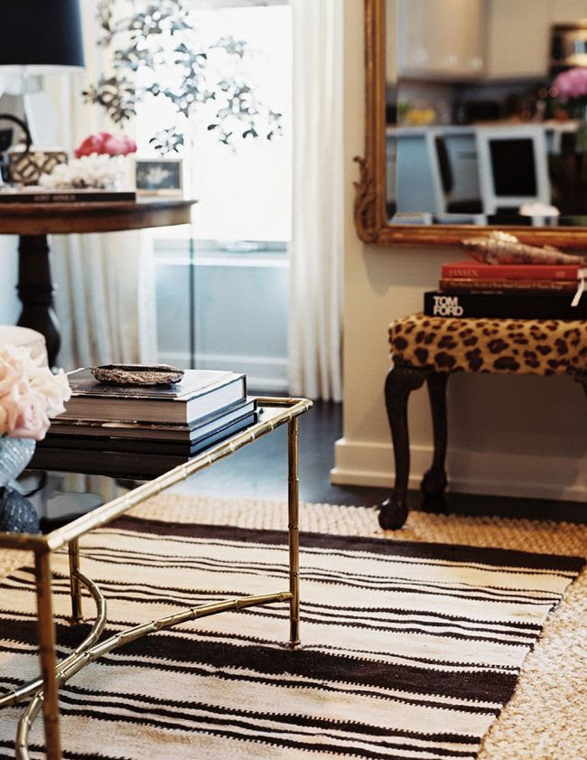 gold-bamboo-table-living-room-accessories