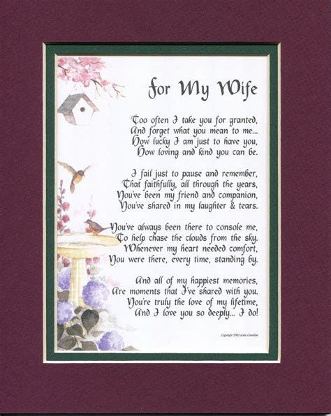 #79 Gift Present Poem for a wife anniversary 30th 40th