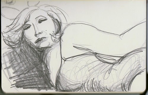 Betty sketch from Dr Sketchy's