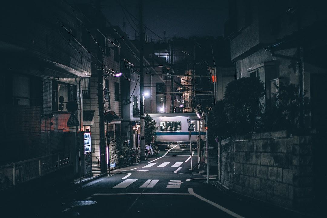 Dark Blue Dark Japanese Aesthetic Wallpaper