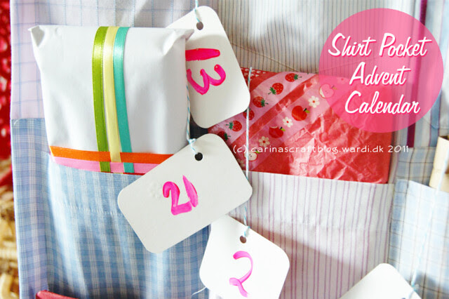 Shirt Pocket Advent Calendar