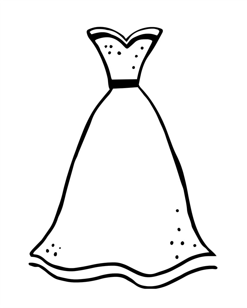 Coloring Pages Dress - Coloring Home | 1000x800