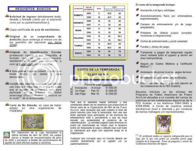 Da click a la imagen para verla en PDF; consúltanos cualquier duda  ¿Mayor información? somos_pumas@yahoo.com.mx