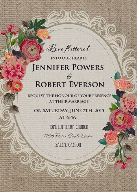 Vintage Wedding Invitations Affordable At Elegant Wedding