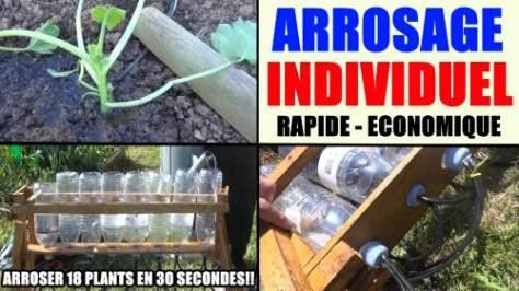 arrosage individuel jardin - arroser rapide économique - tuyau goutte a goutte