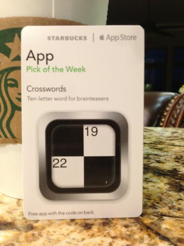 Starbucks iTunes Pick of the Week - 4/16/2013 - Crosswords