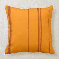 Orange, Brown pattern stripes Pillow throwpillow