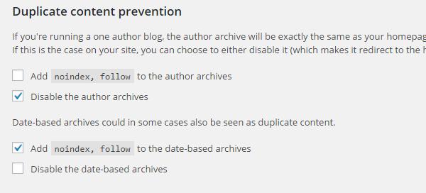Duplicate content prevention