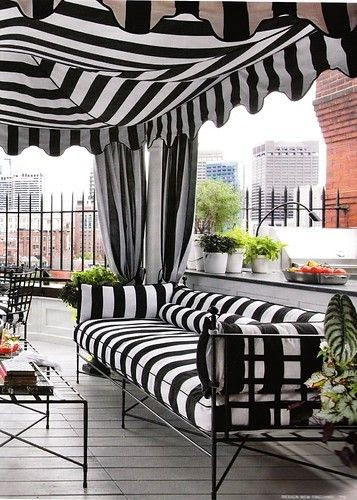 Black and white stripes.