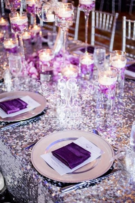 Purple And Silver Wedding Decorations   Wedding Decor