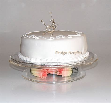 """CLEAR ACRYLIC STACKED PEDESTAL WEDDING CAKE STAND 9.5""""   eBay"""