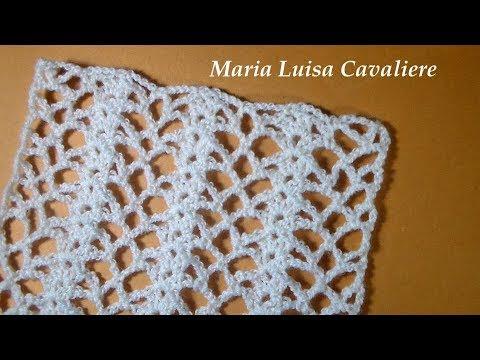 فيديو شرح طريقة عمل غرزة غرزة الدانتيل والمروحة  تصلح لعمل بلوزة او سكارف بالخطوات كروشية Lace stitch and crochet fans كروشيه