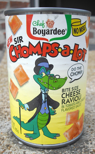 1992 Chef Boyardee Sir Chomps-A-Lot Cheese Ravioli Can Bank