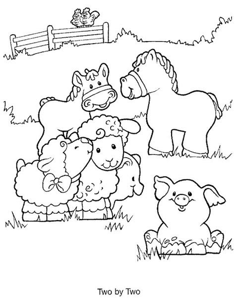 easy printable farm animal coloring pages