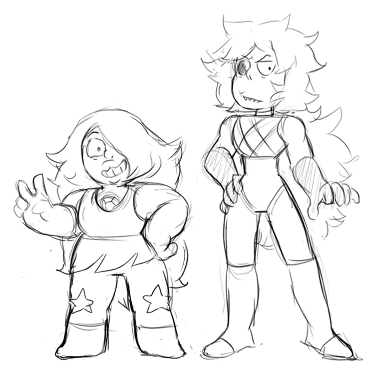 "Just like Amethyst, Onyx was made small, but they have a different body type and Onyx is a little taller. They are both a type of quartz, and despite their sizes, are still very strong. ""See ..."