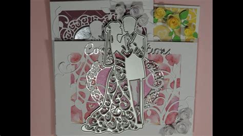 Wedding Card using Dies 3 Ideas for Card Making   YouTube