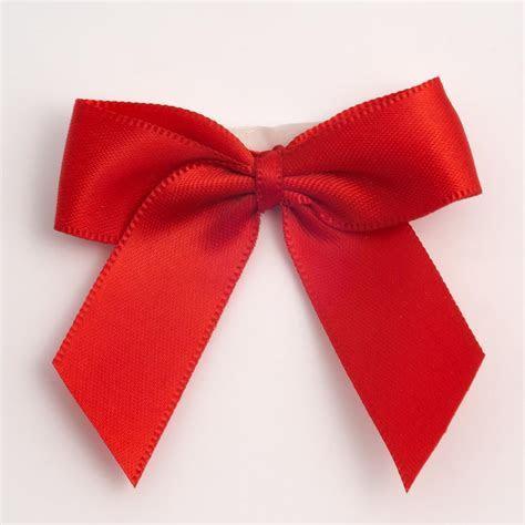 Red Self Adhesive Satin Ribbon Satin Bows, Favour This