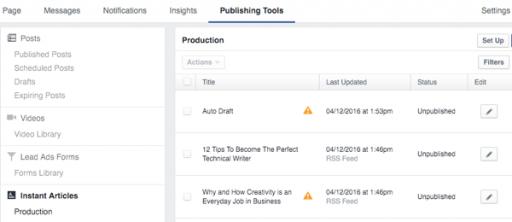 kenhkienthuc.net Hướng dẫn đăng kí Facebook Instant Articles trên Facebook cho Website của bạn