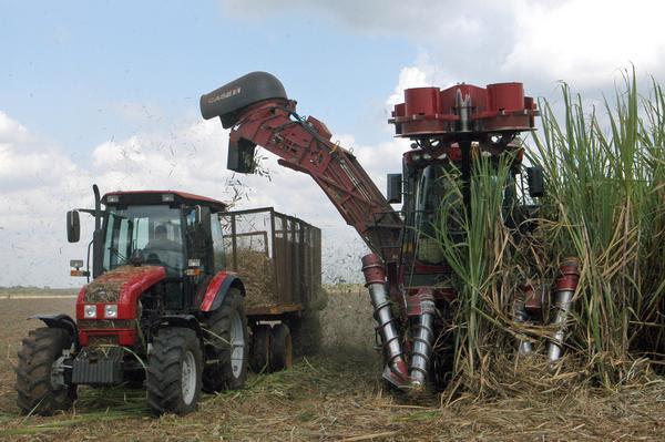Combinada brasileña de la más reciente generación, (modelo CASE-8000) operadas por trabajadores del Central Ecuador, del municipio de Baraguá, en la provincia de Ciego de Ávila, Cuba. AIN FOTO/ Osvaldo GUTIÉRREZ GÓMEZ