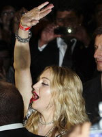 Madonna at the opening of the Hard Candy Fitness center, Mexico 21