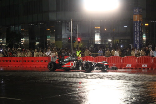 Lewis Hamilton Speeds #thevodafonesuperfest #indiblogger by firoze shakir photographerno1