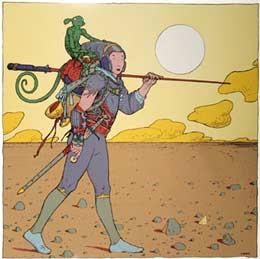 O Louco, Fool no Tarot de Franquin Hergé Moebius
