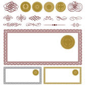 Vector Money Frame and Ornament Set — Stock Vector ...