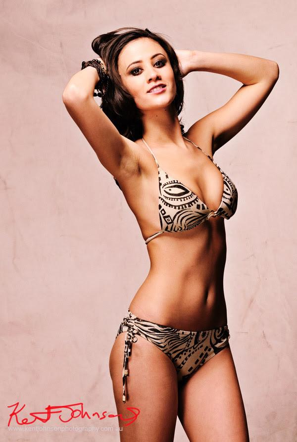Bikini Modelling Portfolio Shoot - Studio Swimwear shoot, mid shot