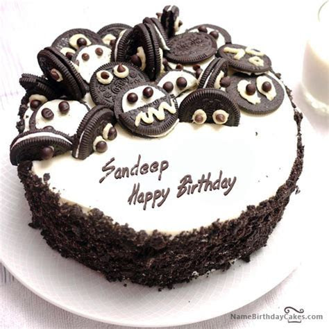 I have written sandeep Name on Cakes and Wishes on this