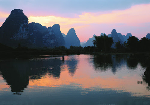 A dusk view of Ming-shi Countryside,Nanning