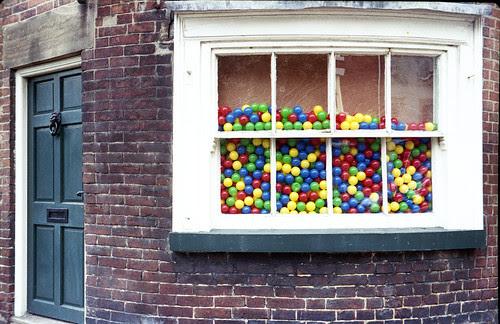 window full of balls by pho-Tony