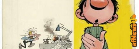 Franquin, Gaston Lagaffe T2 (Gala de Gaffes), Couverture originale. Estimation : 100.000 - 120.000 €