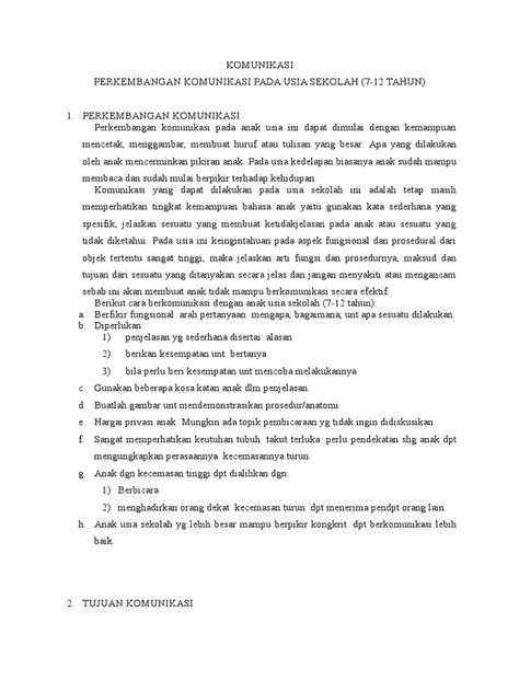 Strategi Pelaksanaan Tindakan Keperawatan Komunikasi