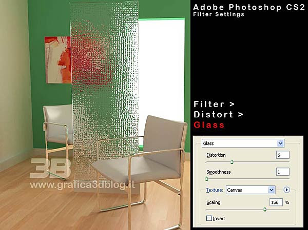 photoshop glass
