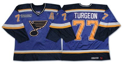 Turgeon Blues jersey