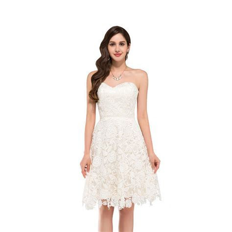 Ivory Vintage Lace Short Beach Wedding Dress   My Wedding